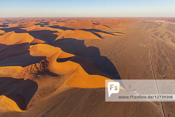 Africa  Namibia  Namib desert  Namib-Naukluft National Park  Aerial view of desert dune 45