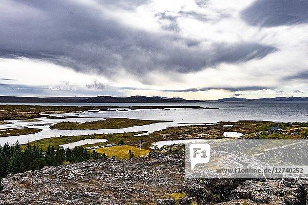 Nature of Þingvellir National Park  Southwest Iceland.