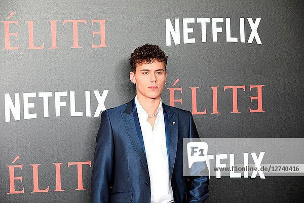 Actor  ARON PIPER. Premiere of the Élite series  which premieres Netflix -it is its second Spanish original series- this Friday  October 5  was directed by Ramón Salazar and Dani de la Orden on Oct 2  2018 in Madrid  Spain