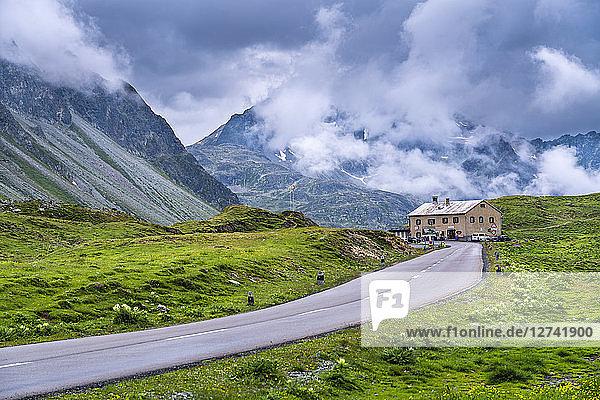 Switzerland  Graubuenden Canton  Albula Pass  hospice