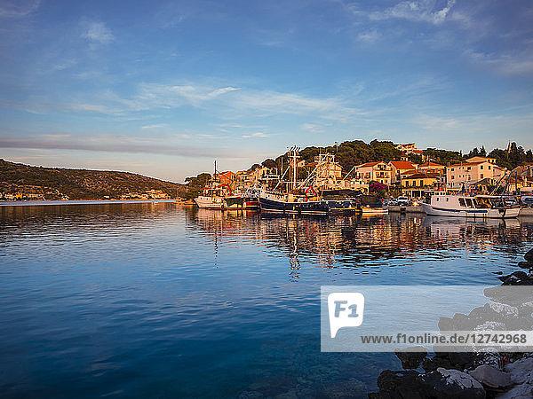 Croatia  Dalmatia  Rogoznica  Bay with fishing harbor