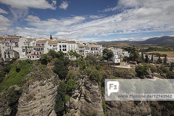 Spain  Malaga  Ronda with Tajo de Ronda  Jardines de Cuenca