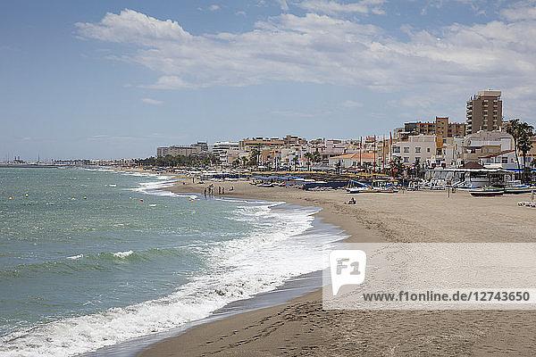 Spain  Andalusia  Costa del Sol  Torremolinos  beach