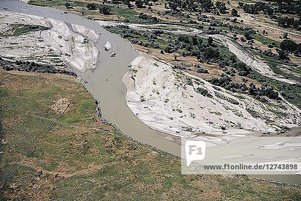 USA,  Aerial of the Platte River in Western Nebraska