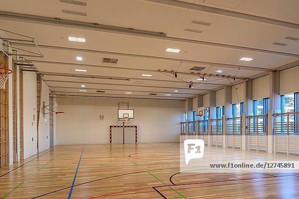 Turnhalle, Pädagogische Hochschule, Baden, Niederösterreich, Österreich, Europa