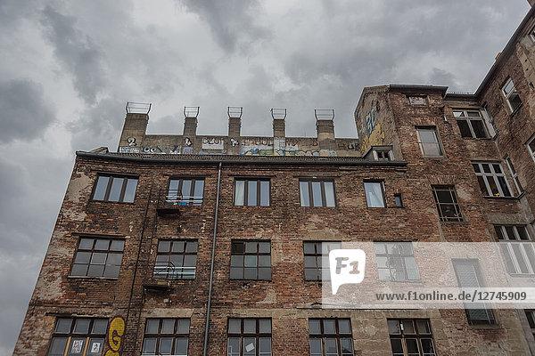 Ruine einer Fabrik, Sonnenburger Strasse, Prenzlauer Berg, Berlin, Deutschland, Europa
