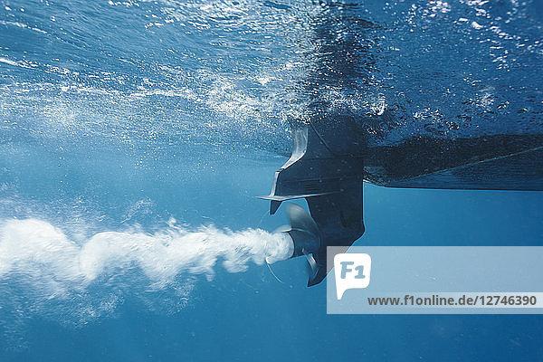 Boat propellor underwater
