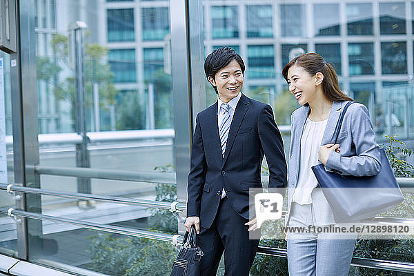 Japanese businesspeople downtown Tokyo