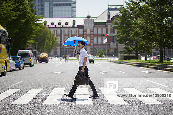Japanese man with parasol