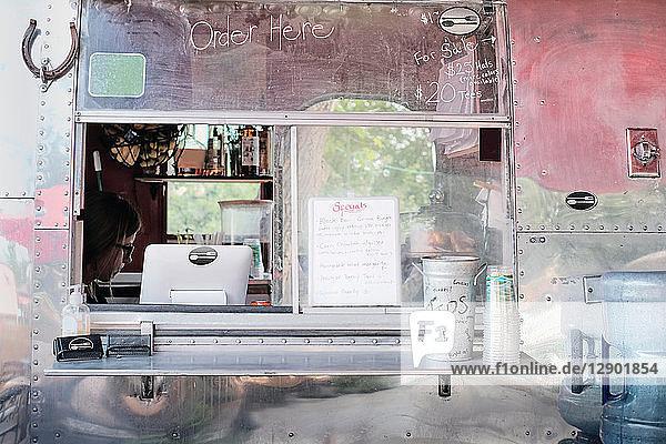 Service window of food truck