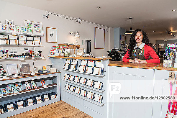 Proud owner of stationery shop