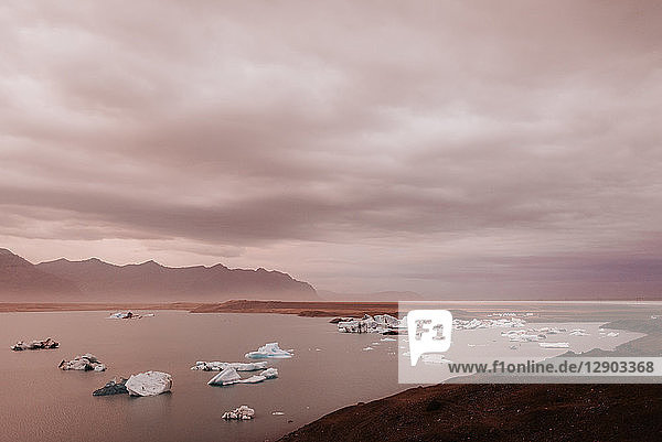 Gletscherlagune Jökulsárlón  Reykjavík  Gullbringusysla  Island