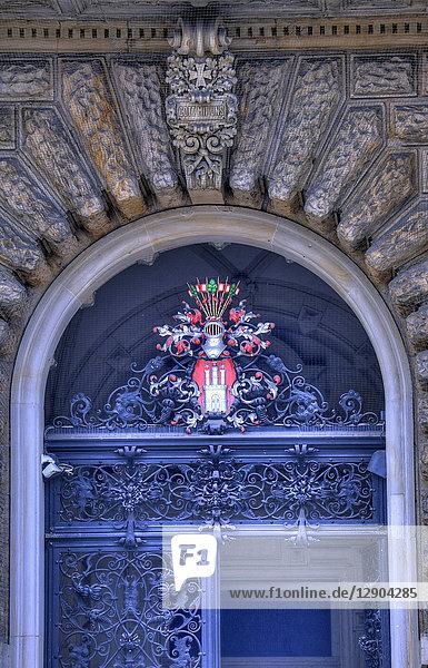 Portal, Hamburger Rathaus, Hamburg, Deutschland, Europa