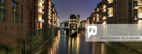 Wasserschlösschen, Speicherstadt, Hamburg, Deutschland, Europa