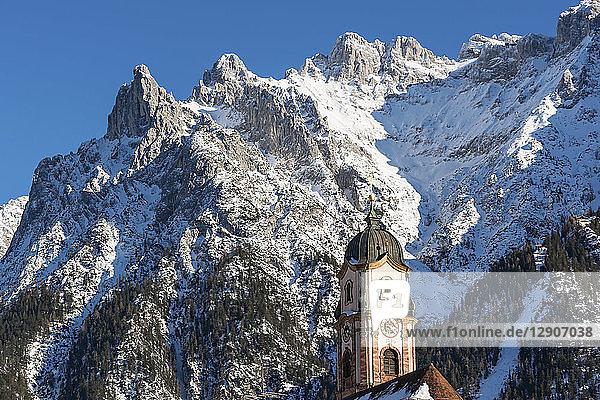 Germany  Bavarian Alps  Bavaria  Upper Bavaria  Werdenfelser Land  Karwendel Mountains  Mittenwald  Church of Saint Peter and Paul
