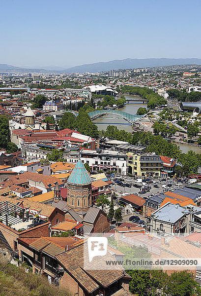 Georgia  Tbilisi  City view with Kura river