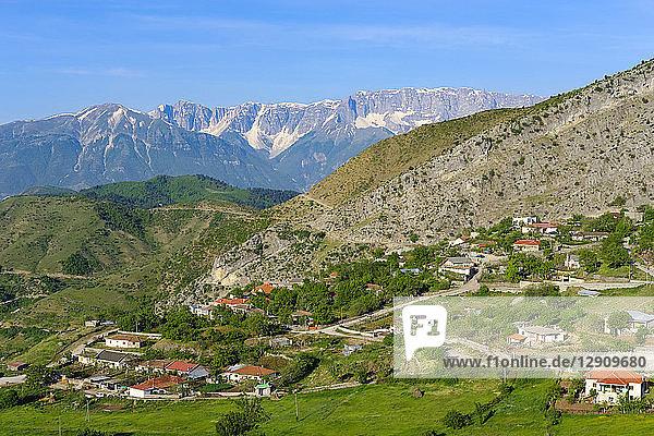 Albania  Qark Korca  Kolonje  Leskovik  Nemercka Mountains in the background