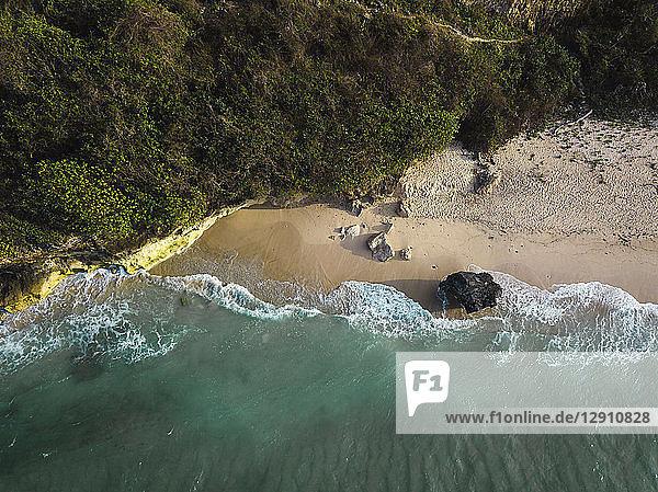 Indonesia  Bali  Aerial view of Pandawa beach