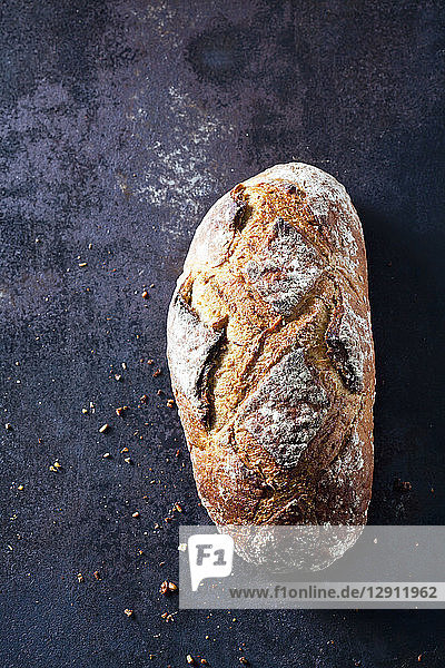 Fresh sourdough brown bread
