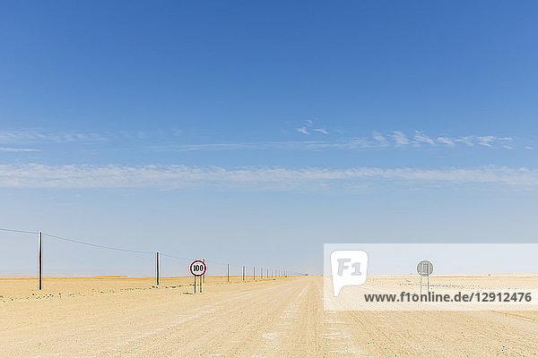 Africa  Namibia  Erongo Region  sand track C 35