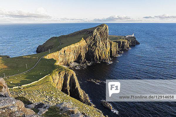 UK  Scotland  Inner Hebrides  Isle of Skye  lighthouse at Neist Point