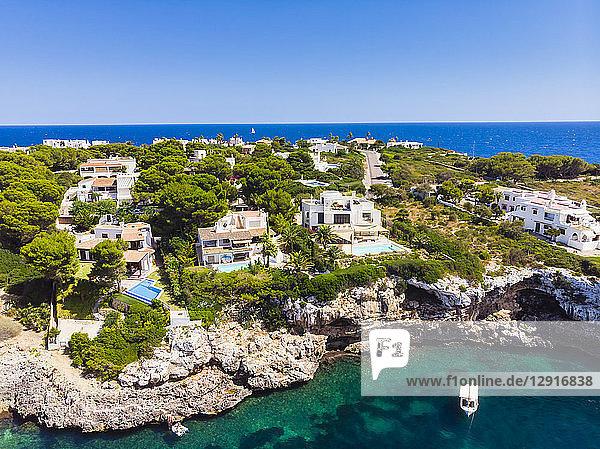 Spain  Mallorca  Portocolom  Punta de ses Crestes  Bay of Portocolom  Luxus villas
