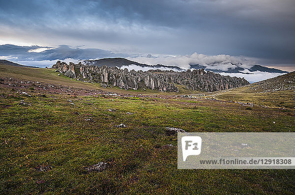 Scenic landscape with view ofHatunMachay  BosquedePiedra  Huaraz  RecuayProvince  Peru