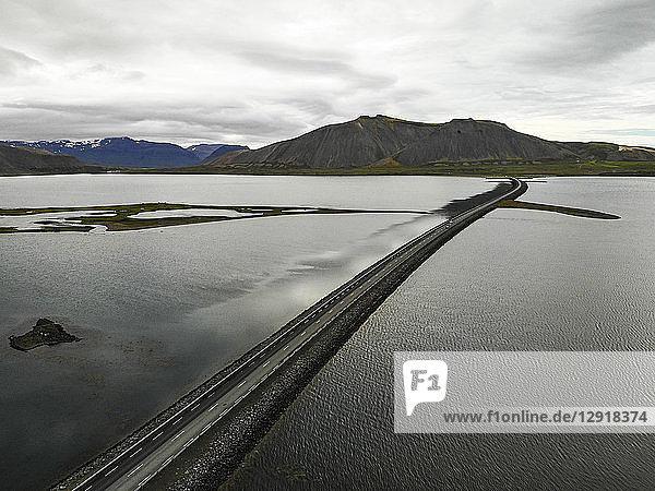 Aerial view of coastal road on†Snaefellsnes†Peninsula  Iceland