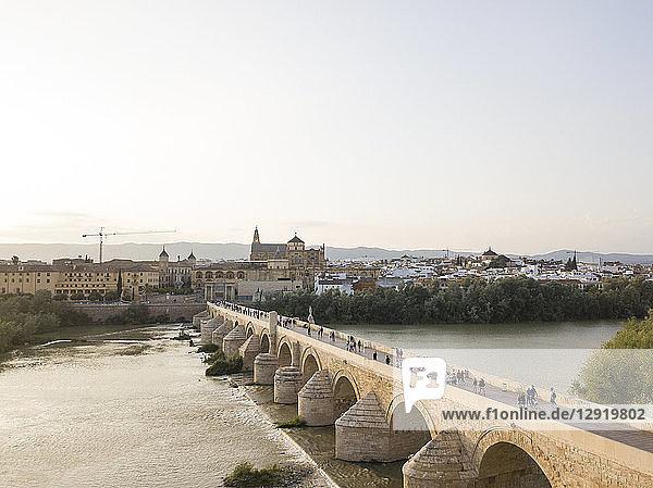 Roman Bridge  UNESCO World Heritage Site  Cordoba  Andalucia  Spain  Europe