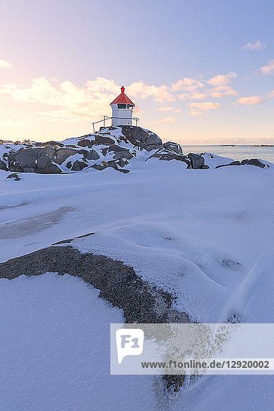 Lighthouse  Eggum  Vestvagoy  Lofoten Islands  Nordland  Norway