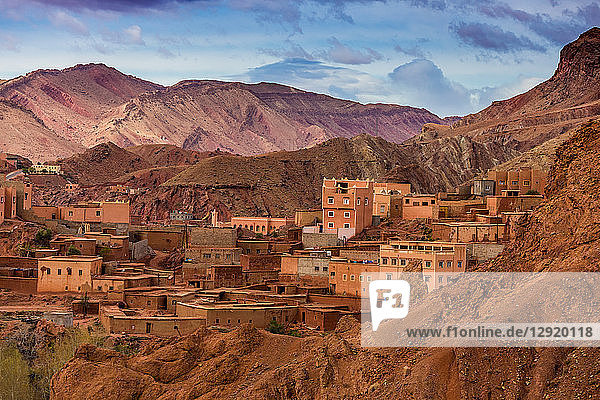 Dades Gorges scenery  Morocco  North Africa
