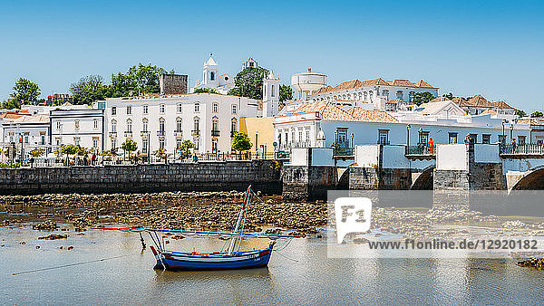 Tavira  an ancient Moorish town that has retained its unique character and heritage  Tavira  Algarve  Portugal  Europe