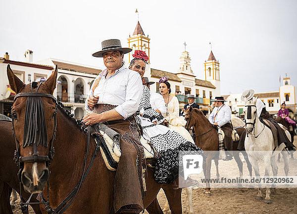 Pilgrimage of El Rocio  Huelva district  Andalucia  Spain  Europe
