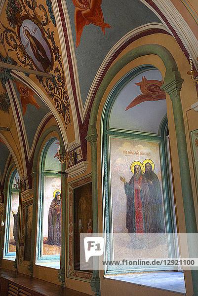 Frescoes  St. Sergius Church  The Holy Trinity Saint Sergius Lavra  UNESCO World Heritage Site  Sergiev Posad  Russia  Europe