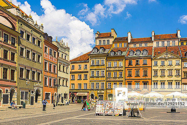 Old Town Market Square  UNESCO World Heritage Site  Old Town  Warsaw  Poland