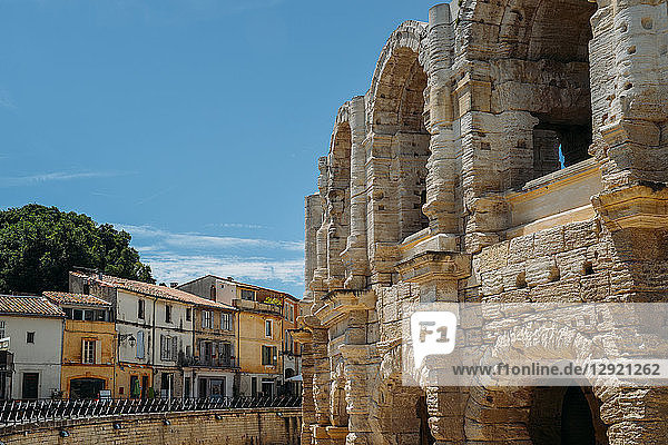 Arena and Roman Amphitheatre  UNESCO World Heritage Site  Arles  Provence  France  Europe