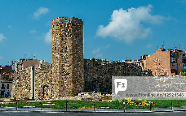 Open-air and underground ruins of a 1st century Roman circus (chariot-racing track) and Tower  UNESCO World Heritage Site  Tarragona  Catalonia  Spain  Europe