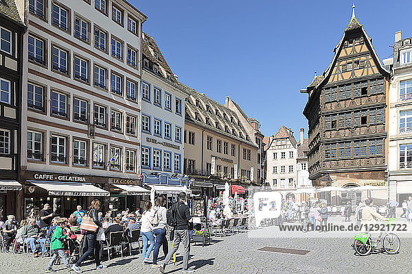 Maison Kammerzell  Place de la Cathedrale  UNESCO World Heritage Site  Strasbourg  Alsace  France  Europe