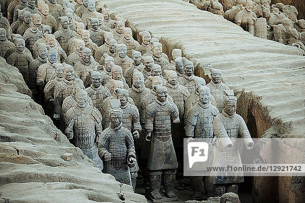 Army of Terracotta Warriors  UNESCO World Heritage Site  Xian  Shaanxi Province  China