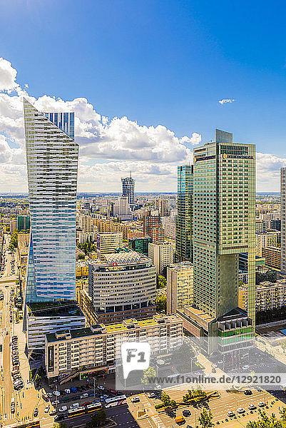 Skyscrapers  City Centre  Warsaw  Poland