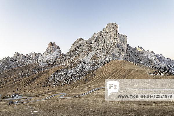 Passo Giau in the Dolomites  Belluno  Veneto  Italy  Europe