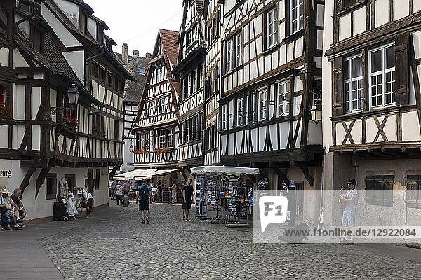 Petite France  UNESCO World Heritage Site  Strasbourg  Alsace  France  Europe