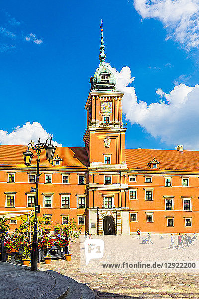 Royal Castle in Plac Zamkowy (Castle Square)  Old Town  UNESCO World Heritage Site  Warsaw  Poland