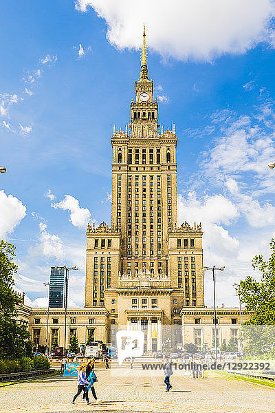 Palace of Culture and Science  City Centre  Warsaw  Poland