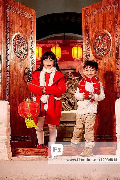 Happy children's New Year's day