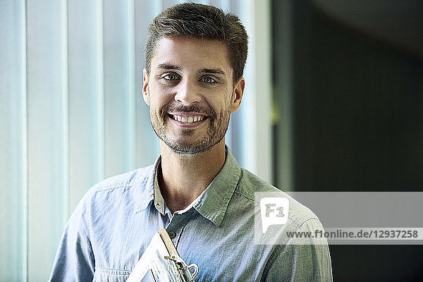 Portrait of smiling engineer