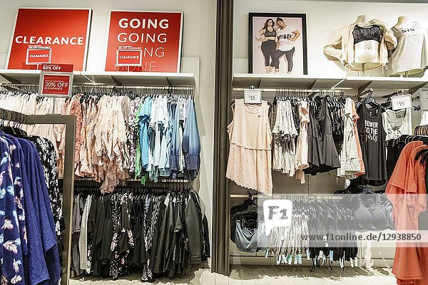 Florida  Miami  Kendall  The Palms at Town & Country Mall  Lane Bryant  inside  shopping  display sale  women's clothing  plus size  clearance