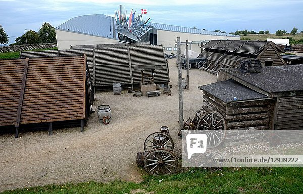 The camp Dybbol Trenches  the old battlefield from 1864  in Sönderborg  South Jutland  Denmark.