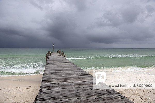 Storm in the sea  Sok San Beach  Koh Rong Island  Sihanoukville province  Kingdon of Cambodia.