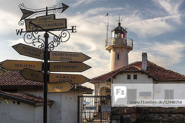 Black Sea. The Light-house on isle St. Anastasia.